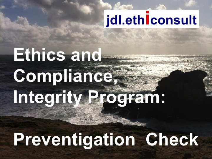 jdl ethiconsult jean daniel Lainé preventigation check ethics and compliance integrity program
