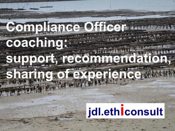 jdl ethiconsult compliance officer coaching support recommendation, sharing of experience éthique et conformité