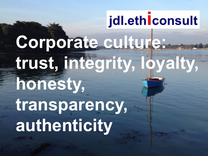 jdl ethiconsult jean daniel lainé corporate culture trust integrity, loyalty honesty transparency authenticity