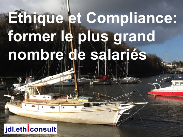 jdl ethiconsult éthique et compliance programme d'intégrité former le plus grand nombre de salariés