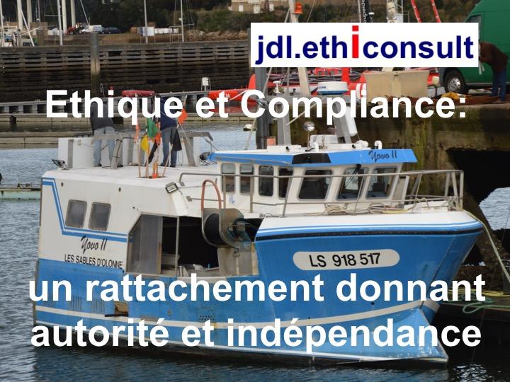 jdl ethiconsult éthique et compliance conformité un rattachement donnant autorité et indépendance