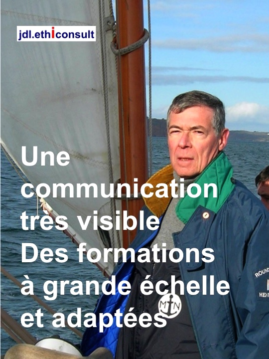 jdl ethiconsult jean daniel lainé une communication très visible des formations adaptées veste de quart Henri Lloyds round the world