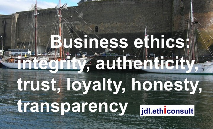 jdl ethiconsult préventigation business ethics integrity authenticity trust loyalty honesty transparency