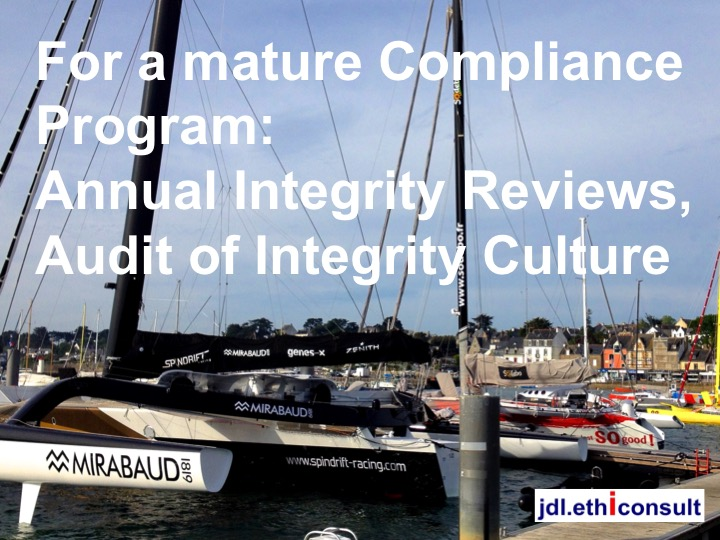 jdl ethiconsult for a mature compliance program annual integrity reviews audit of integrity culture préventigation