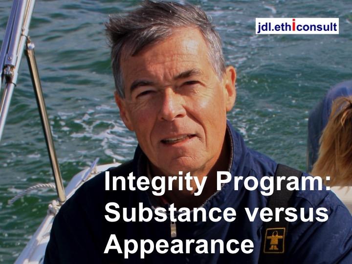 jdl ethiconsult Jean Daniel Lainé integrity program substance versus appearance programme d'intégrité