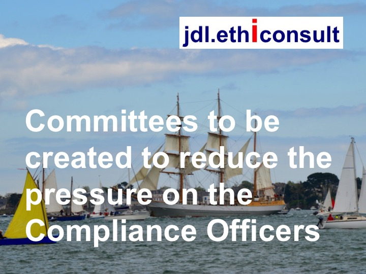 jdl ethiconsult jean daniel lainé committees to be created to reduce the pressure on the compliance officers prevention of corruption
