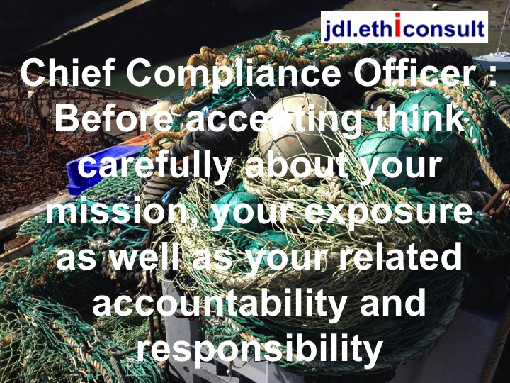 jdl ethiconsult jean daniel lainé preventigation programme de conformité chief compliance officer before accepting think carefully about your mission your exposure as well as your related accountability and responsibility