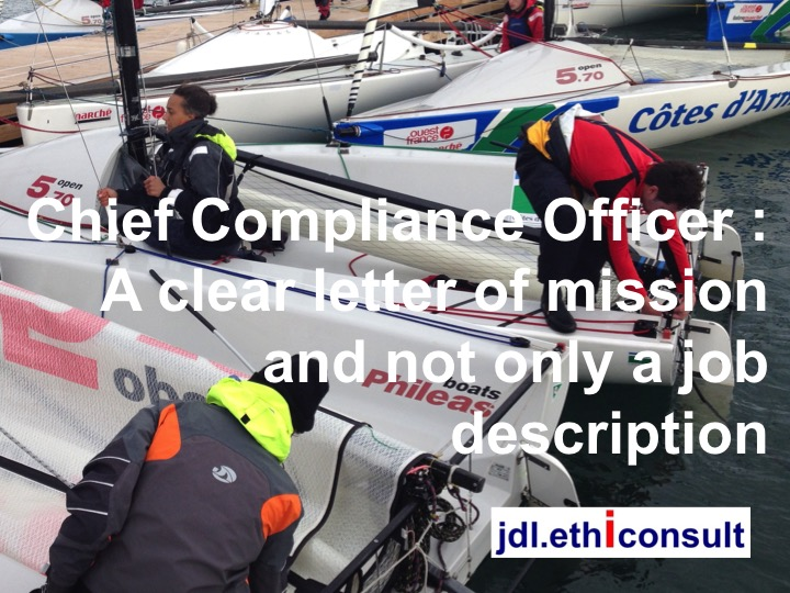 Think carefully before accepting a job as chief compliance - Compliance officer position description ...