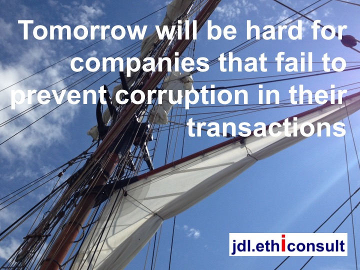 jdl ethiconsult coaching the executives committees tomorrow will be hard for companies that fail to prevent corruption in their transactions